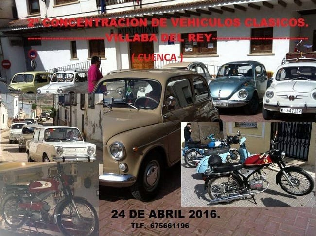 Concentración de coches clásicos en Villalba del Rey, Cuenca