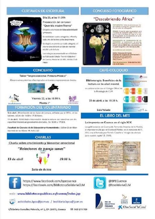 Concierto en la biblioteca pública del estado en Cuenca