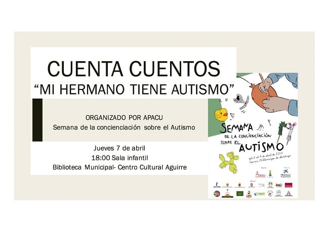 Mi hermano tiene autismo en el Centro Cultural Aguirre