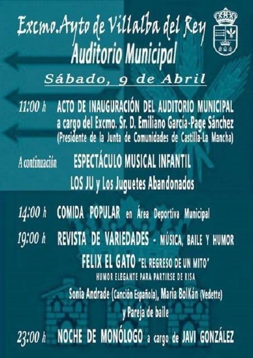 Actos en la inauguración del auditorio en Villalba del Rey