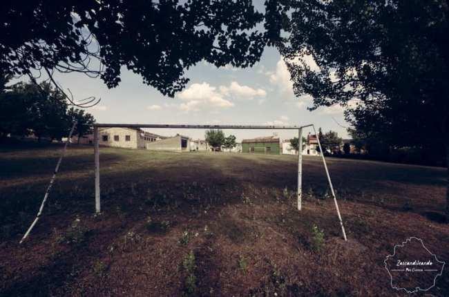 Porteria de fútbol en Poyatos, Cuenca
