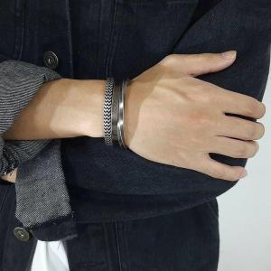 набор мужских браслетов из стали