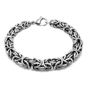 Стильный браслет серебро