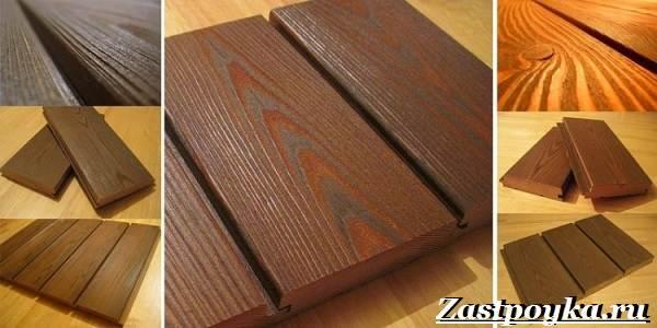 Разновидности планкена и особенности крепежа из термососны ясеня и лиственницы