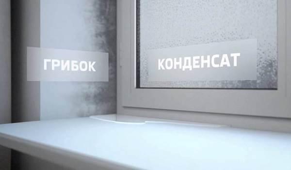 Конденсат внутри окна