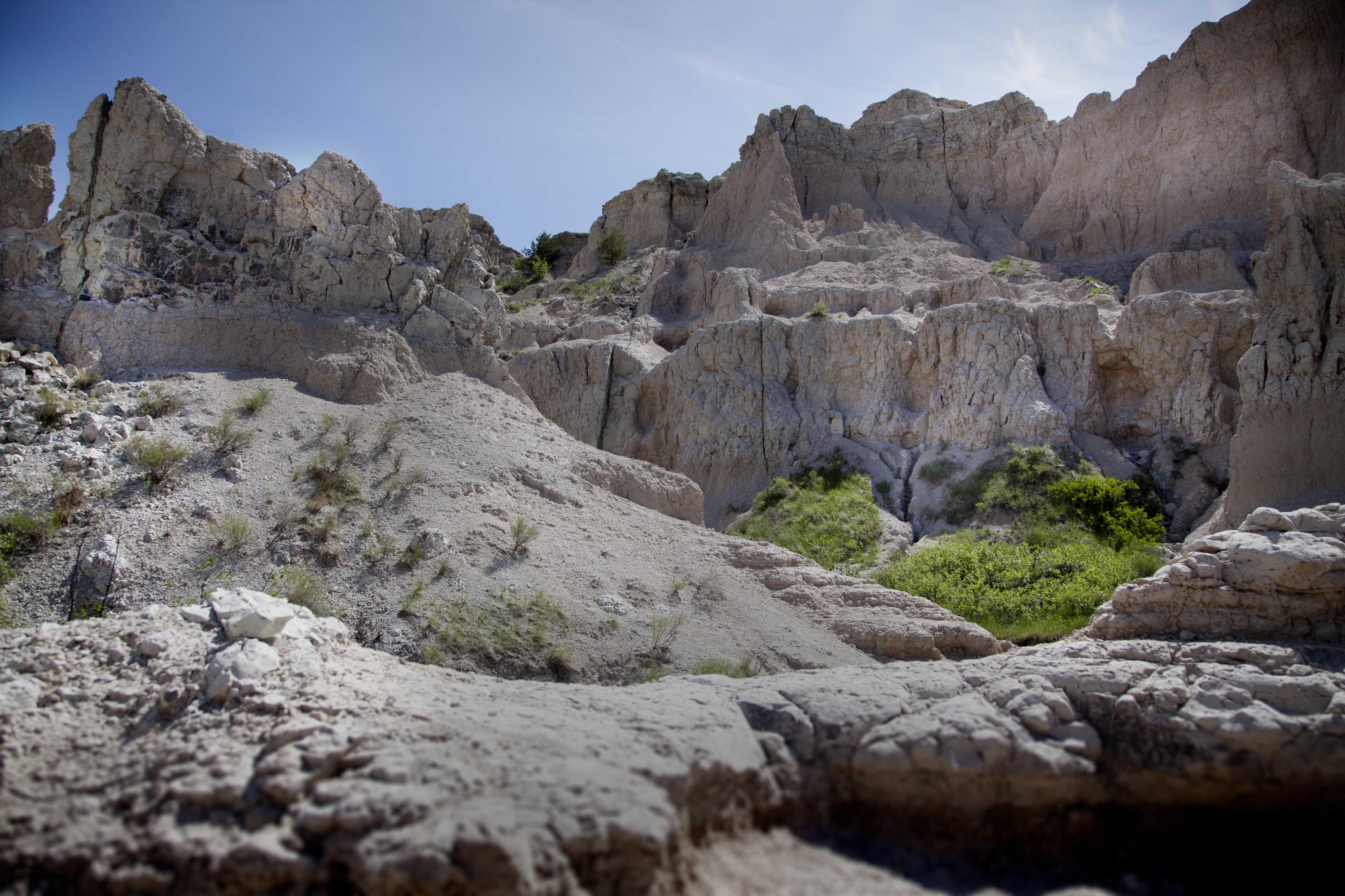 Après la traversée des Grandes Plaines au Nord des États-Unis: Badlands National Park, SD