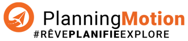 LOGO DU PLANIFICATEUR DE VOYAGES:PLANNING MOTION