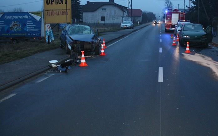zdjęcie wypadku drogowego Babice