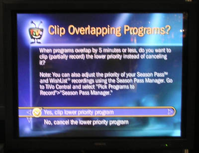 TiVo Overlap Clip