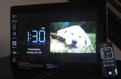 HP DreamScreen clock photo
