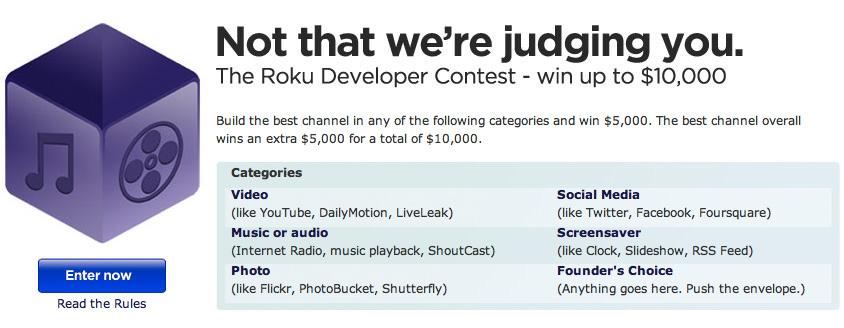 Roku To Award Developers $35,000