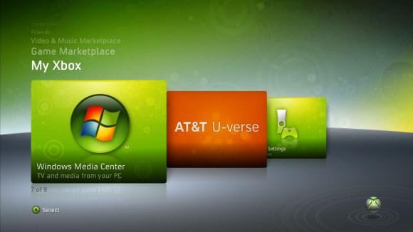 U-verse Xbox 360 AT&T IPTV