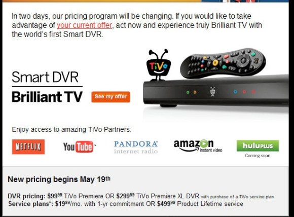 TiVo Simplifies Pricing On May 19th