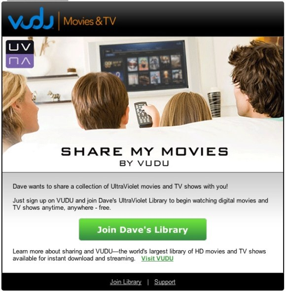 Share Your Vudu Movies
