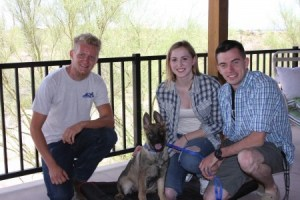 Trained German Shepherd puppy sold to California