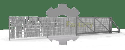 Zaunfeld, Doppelstabmatten füllung, Schiebetore, Flügeltore, Pforten