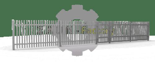 Industriezaun, Privat, Gewerbe, robust Zaun, Metallzaun Schiebetore, Flügeltore