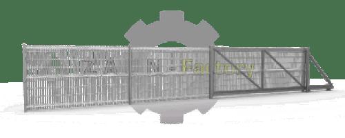 Einfachstabmatten, Industriezaun, Industrie Zaunsystem, Indrustrietor, Industrieschiebetor, Einfachmattentor