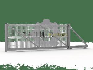 Einfachtor, Schiebetor, Rolltor, Einfachstabmattentor, 3D Schiebetor, Anthrazite, Moosgrün, freitragenes Industrietor