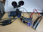 A stereo set of Point Grey Flea3 FL3-GE-50S5C connected to Banana Pi BPi M1