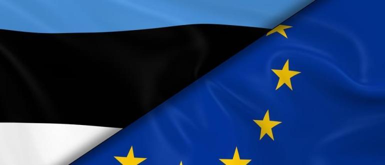 Флаг Эстонии и ЕС
