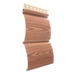 Сайдинг блок-хаус WoodSlide - цвет Рябина - ZAVODKM