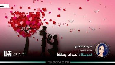 الحب أم الإستقرار