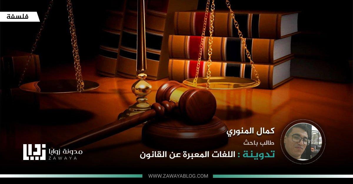 اللغات المعبرة عن القانون