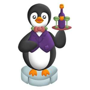 Cute Penguin Waiter