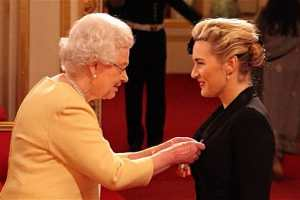 Kate Winslet Honored With CBE by Queen Elizabeth II 1