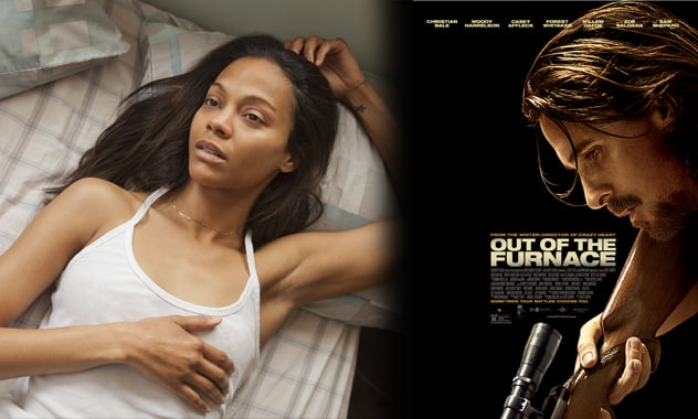Zoe Saldana & Christian Bale in OUT OF THE FURNACE - hits theaters today!