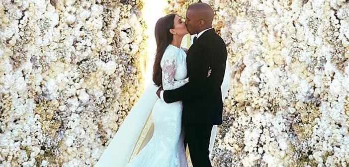 Kanye West and Kim Kardashian are finally married!