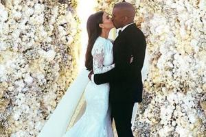 Kanye West and Kim Kardashian are finally married!