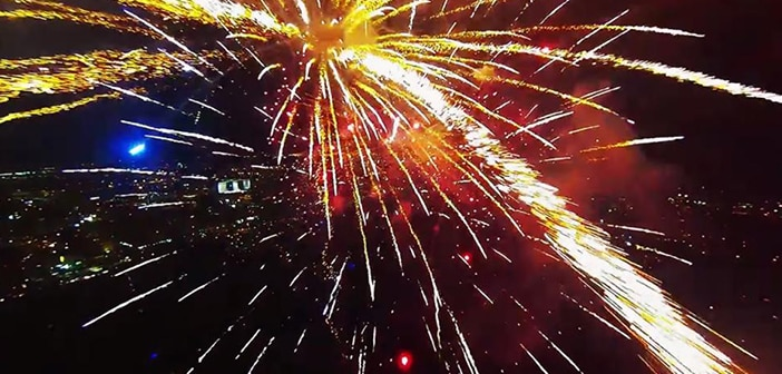 Jos Stiglingh Films Stunning 4th Of July Fireworks Show With Drone