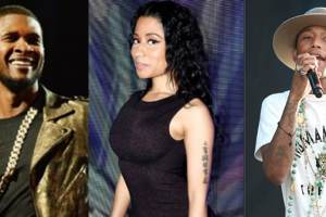 "Usher, Nicki Minaj and Pharrell Release New Track  ""She Came to Give it to You"""