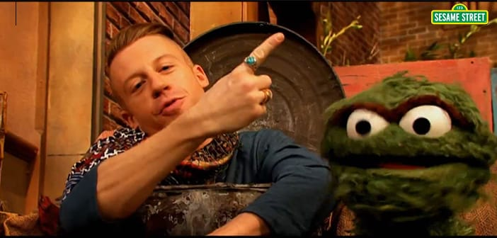 Macklemore Heads To 'Sesame Street' With 'Thrift Shop' Parody