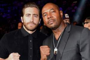 SOUTHPAW movie - Jake Gyllenhaal, Antoine Fuqua, Victor Ortiz at the Mayweather-Pacquiao fight 3