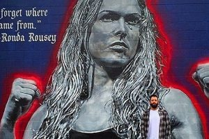 Street Artist Jonas Never Shows Love To Ronda Rousey  With Magnificent Mural In Her Hometown