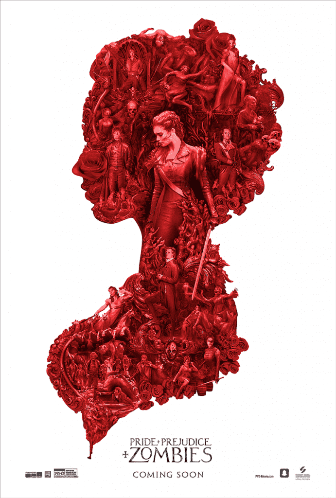 'Cameo' poster for PRIDE AND PREJUDICE AND ZOMBIES_DIGITAL_ONE_SHEET