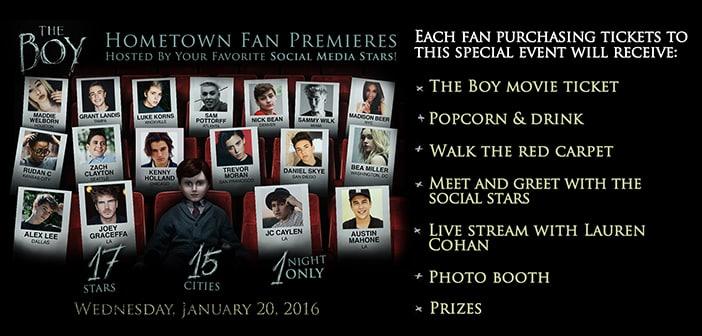 THE BOY - Hometown Fan Premiere - One  Night Only 2