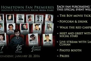 THE BOY - Hometown Fan Premiere - One  Night Only 2