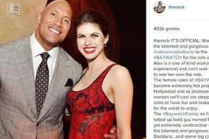 The Rock Reveals Why He Had To Have Alexandra Daddario 'Rep The Squad' In 'Baywatch'