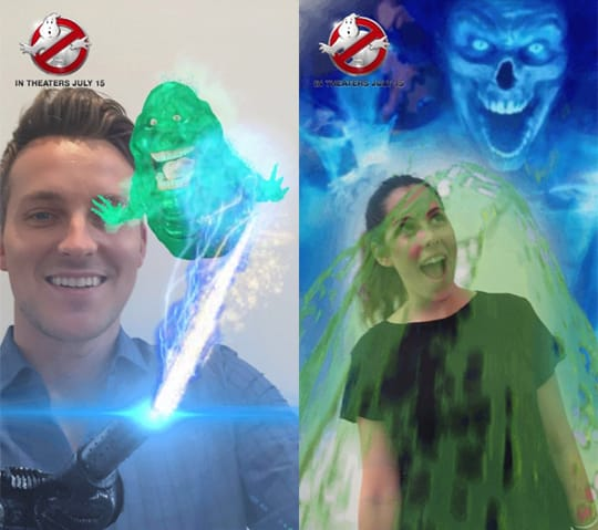 """Sony Pictures' """"Ghostbusters"""" Offers First-Ever Front And Rear-Facing Lens On Snapchat (PRNewsFoto/Sony Pictures Entertainment)"""