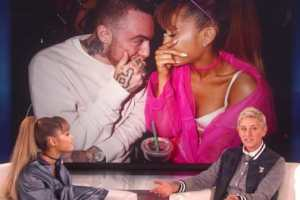 Ariana Grande Visits 'Ellen' And Leaks Her Relationship With Rapper Mac Miller