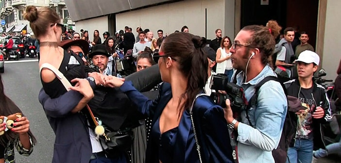 Milan Reporter Gets A Little Too Handsy For Model Gigi Hadid