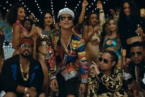 Bruno Mars Debuts Pure Gold Masterpiece '24K Magic'