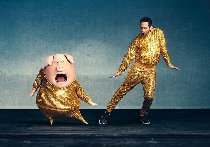 Nick Kroll as Gunter, the Spandexed show-stopper whose sheer enthusiasm overcomes his lack of actual talent.