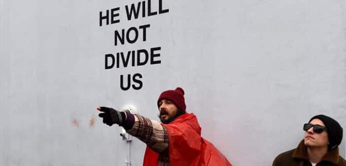 """Shia LaBeouf Arrested For """"Assaulting"""" Trump Supporter At His NYC Anti-Trump Protest"""