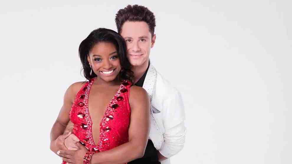Simone Biles and DWTS partner Sasha Farber