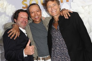 Joaquim de Almeida, Yancey Arias and Steven Bauers